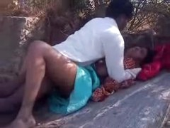 Adorable sexual congress bhabi gets crammed heavily outdoors