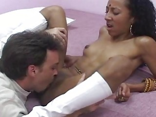 Curby indian  sits her hungry pussy on fat dick