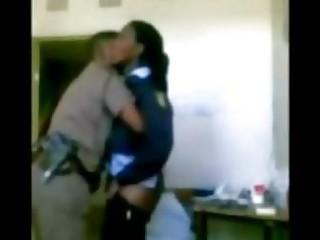 Police boss enjoying female junior officer hidden cam
