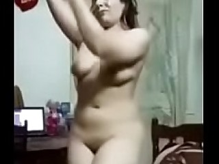 Hot Girl dancing and striptease