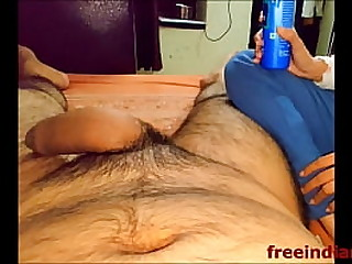 Hot Indian sister Jerking off her brother in Indian style