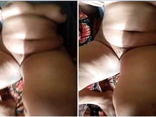 Today Exclusive-Sexy Lankan wife Boobs and Pu...